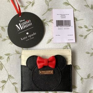 NWT Kate Spade Card Case Minnie Mouse Disney
